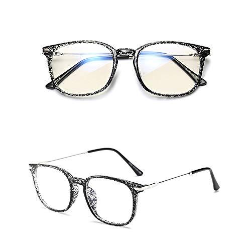 Yiph-Sunglass Sonnenbrillen Mode Premium-Computer-Lesebrille Blau Reinigen und Blendung Keine Vergrößerung Brille Sogar Größe Anti-Eyestrain-Brille für Männer und Frauen (Farbe : Spot Color)