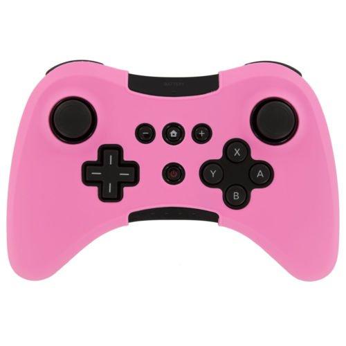 Ambertown® Soft Silikon Cover Case Skin Tasche Sleeve für Nintendo WII U Wireless Controller Pink