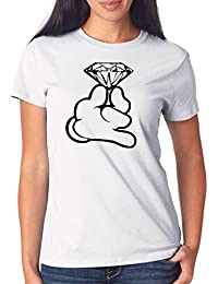 Certified Freak Dope Hands Diamond T-Shirt Girls Blanco