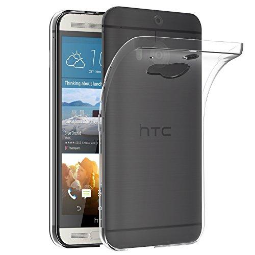 HTC One M9 Plus Hülle, iVoler Premium Hülle Tasche Schutzhülle Case Cover Transparent Klare Weiche TPU Silikon Gel Schutzhülle Bumper Löschen Back für HTC One M9 Plus