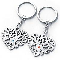 Buchstabenmix Schlüsselanhänger Love you forever im Set für Paare / Lyf Buchstabenmix