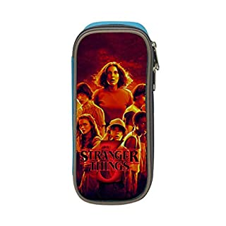 PitBuller Student Stranger Things 3 Big Capacity Homecube Pencil Case Stationery Pouch Pen Bag Blue