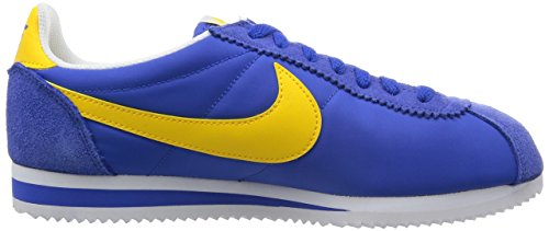 Nike Classic Cortez Nylon Baskets pour Homme - Multicolore Multicolore - Azul / Amarillo / Blanco (Varsity Royal / Vrsty Mz-White)