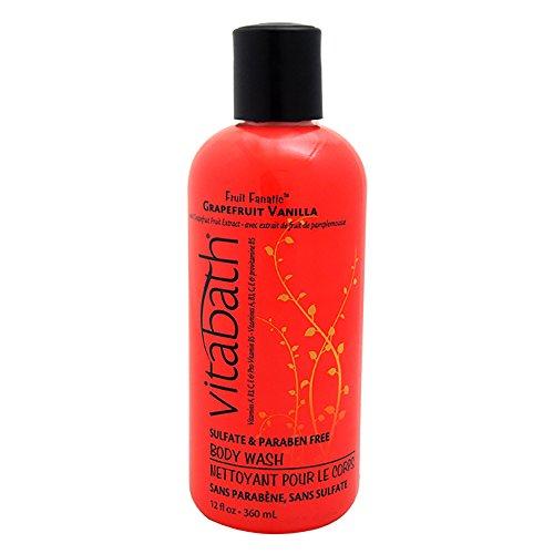 Vitabath Bath and Shower Gel, Grapefruit Vanilla, 12 Ounce by Vitabath (Vitabath Gelee)