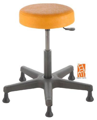 Arbeitshocker , Arzthocker, Drehhocker, Standhocker Modell comfort, Hubbereich ca. 46 - 59 cm, rutschfeste Bodengleiter, Sitzfarbe mais