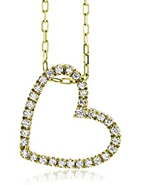 Miore - M0836BY - Collier Femme - Coeur - Or jaune 750/1000 (18 carats) 2.95 gr - Diamant 0.16 cts - 42 cm