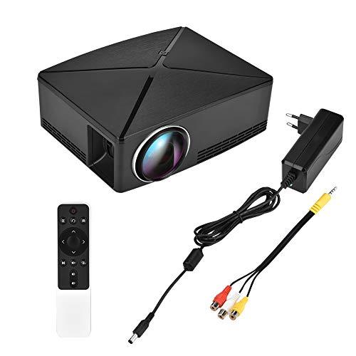 Caredy Mini-Heimprojektor, LED-Projektor Tragbares Mini-Video-3D-Lumen 200 HD 720P 100-Zoll-Bildschirm mit Einstellbarer Bildschirmdiagonale Kompatibel mit AV/USB/HDMI/VGA(EU)