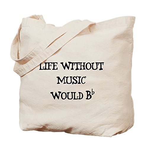 CafePress–Leben ohne Musik... Tasche–Leinwand Natur Tasche, Reinigungstuch Einkaufstasche Tote S khaki
