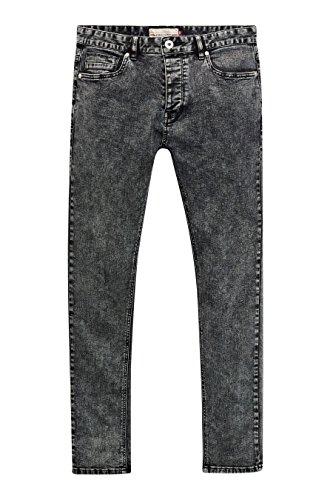next Uomo Jeans Lavaggio Acido Vestibilità Super Skinny Nero