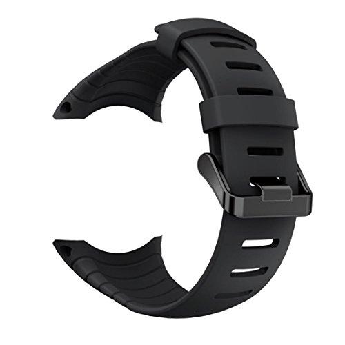 OVERDOSE Mode Ersatz Sport Silikon Armband Strap Band für Suunto Core (Schwarz) -