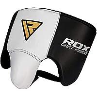 RDX Coquilla Protector Vacuno Cuero Boxeo Ingle Suspensorios Copa Boxeo Abdo Muay Thai (CE Certificado Aprobado)