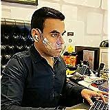 FARGOZI USA INC ® Reusable Transparent (Clear) Face Shield Reusable Mask Plastic Mask   Anti-Fog & Durable   Poly-Carbonate  