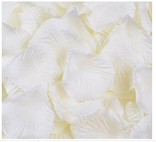 Meilleure Qualité d'ivoire 1000 pcs Soie pétales de rose fleur de décorations de fête de mariage dragées (Ivoire)