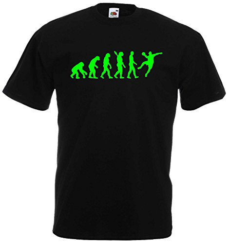 Handball Herren Evolution T-Shirt WM Sport Shirtschwarz/neongrün-M