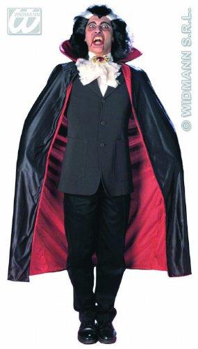 Widmann 3586F - Dracula Mantel, rot / schwarz, ca. 135 (Kostüme Mimen Halloween)