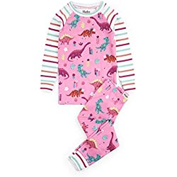Hatley Girl's Organic Cotton Long Sleeve Printed Pyjama Sets Pink (Darling Dinos), Size:5 Years