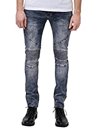 Religion Homme Crypt Washed Skinny Fit Jeans, Bleu