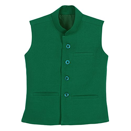 Dhrohar-Khadi-Cotton-Bright-Green-Modi-Jacket-for-Boys-2-Years-6-Years