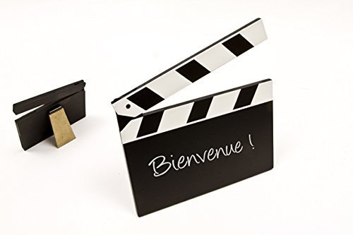 Tafel-Aufsteller Film-Klappe Blanko Motto-Party Hollywood / Themen-Party Movie Film Kino - 1 Stück / Party-Deko / Geburtstags-Feier / Geburtstags-Deko / Tisch-Ordnung