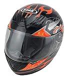 Soar Motorradhelm Rookie Red-Orange, Größe M (57-58 cm) - die Marke für...