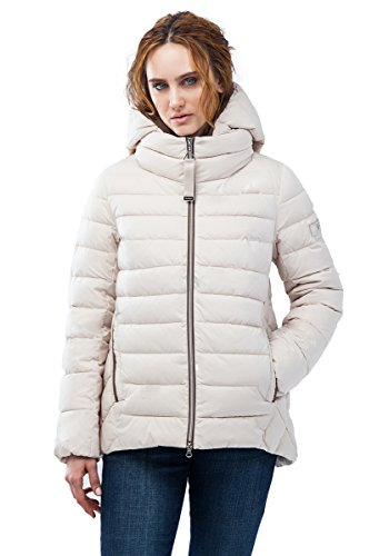"068CW Damen Daunenjacke Stepp Winter Jacke ""CLASNA"" in beige (XL/42-44)"