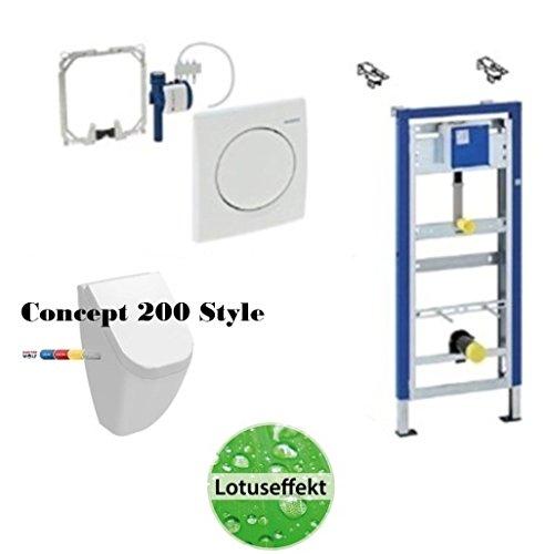Urinal Komplett-Set: Geberit DuofixBasic ,Concept Style 200 Urinal