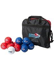 New Age Boccia cosido a mano, 2unidades, 6bolsa de Jack de cuencos 6bolas de cuencos de azul y rojo Paralímpicos Sport