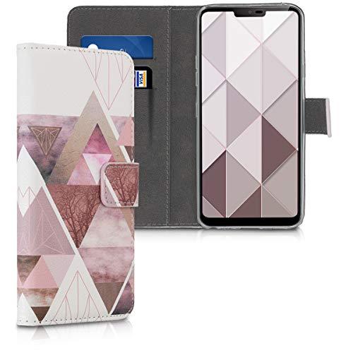 kwmobile LG G7 ThinQ/Fit/One Hülle - Kunstleder Wallet Case für LG G7 ThinQ/Fit/One mit Kartenfächern und Stand