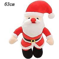 Santa Claus Peluches Gigantes de Juguete Almohada Suave de la Felpa Gatos Perros Muñecas Perezoso Blandos Juguetes Bebes Navidad Decoracion Regalo 63cm Gusspower