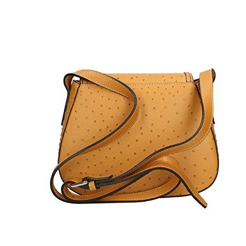 Chicca Borse Borsa a tracolla in pelle 25x20x9 100% Genuine Leather Cuoio