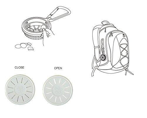 Hysenm Set di 1-Scatola ricarica e 1/8-ricariche Anti-zanzara senza DEET multifunzione applicato ovunque Bebeachat-Zaino da campeggio, escursionismo viaggio Tenda a parete multicolore - 1*Boîte+1*Recharge