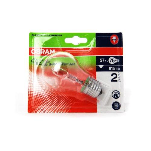 Osram 4008321928375 Ampoule halogènes/Basse consommation Verre 57,00 W E27 Transparent