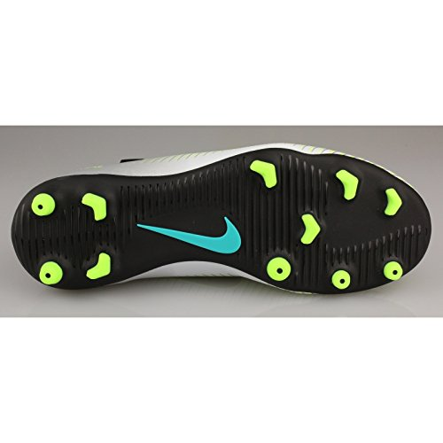 Nike Jr Mercurial Vortex Iii Fg, Scarpe da Calcio Unisex-Adulto Plateado (Pure Platinum / Black-Ghost Green)