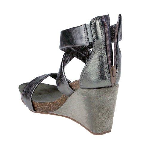 Ovye by Cristina Lucchi , chaussures compensées femme Marron - Dark Grey / dunkel Grau