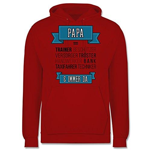 Vatertag - Papa ist.... - Männer Premium Kapuzenpullover / Hoodie Rot