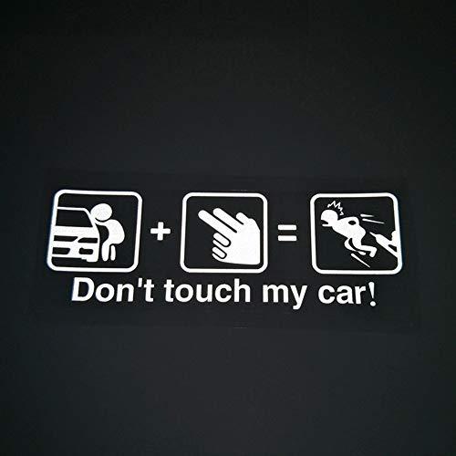 Cartoon Geschnitzte Lustige Auto Aufkleber, Nicht Berühren Mein Auto Kreative Autofenster Warnaufkleber Kann Abdecken 15x7 Cm (5 Stücke) (5x Höschen)
