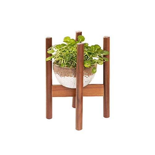 ASDAD Pflanzenständer Kleine Blume Stand Holz Desktop Balkon Sukkulenten Rack Schreibtisch Pflanzer Halter Dekoration Display Regal Moderne Nordeuropa (L20 5 cm X H28 cm) -