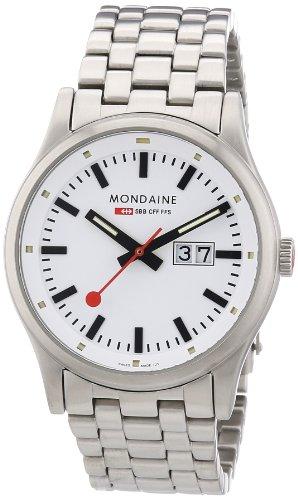 Mondaine - A669.30308.16SBM - Montre Homme - Quartz Analogique - Bracelet Acier Inoxydable Argent