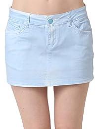 Miss Coquines - Mini jupe bleu pastel - Femme - Jupes