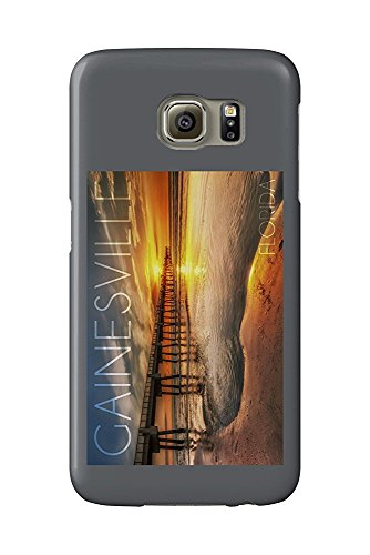 Gainesville, Florida - Pier and Golden Sunset (Galaxy S6 Cell Phone Case, Slim Barely There) -