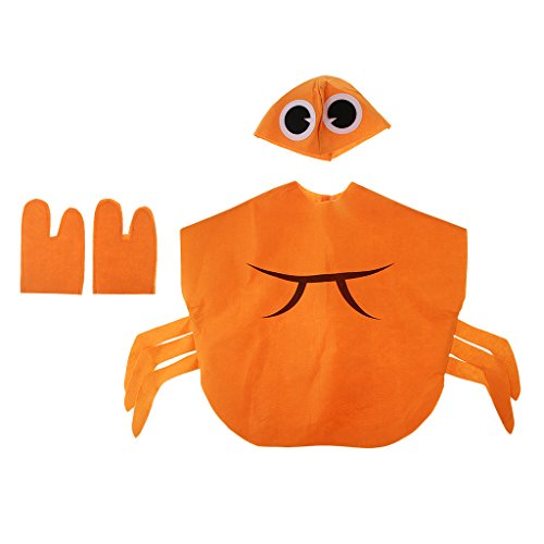 Anbau Kids Crab Costume Nonwovens Fabric Animal Outfit Party Fancy Dress