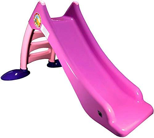 TikTakToo Stabile Kleinkinderrutsche für Kinder ab 1 Jahr Kinderrutsche Garten mit Wasseranschluss als WasserrutscheKinder Rutsche Rutschbahn Outdoor Gartenrutsche (Rosa)