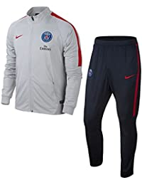 Nike Psg Y Nk Dry Sqd Trk Suit K Chándal París Saint-Germain Fc, Hombre, Gris (Wolf Grey / Wolf Grey / University Red), M