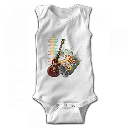 fhcbfgd Infant Baby Girl's Rompers Sleeveless Jumpsuit Sound Bass Outfit -