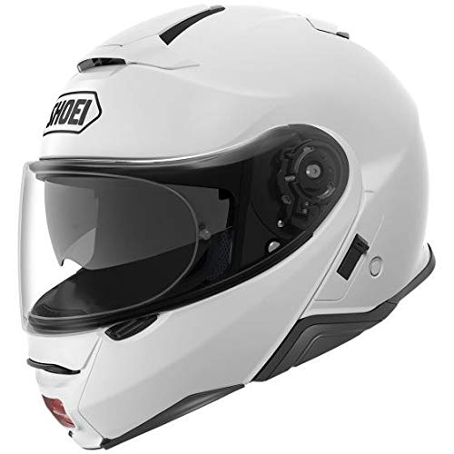 Shoei Casco Convertibile Flip-Up Moto Neotec 2 Plain Bianco (M, Bianco)