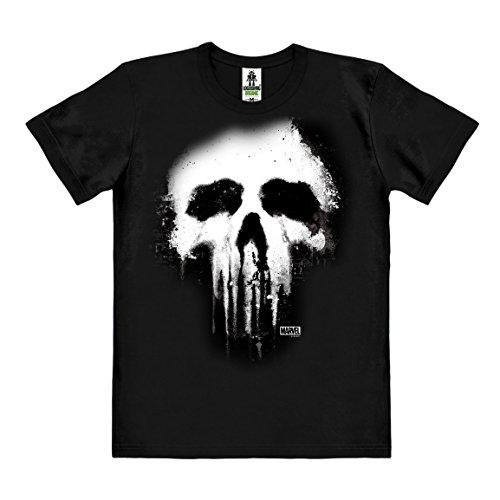 Logoshirt Marvel Comics - Punisher Skull T-Shirt Organic Herren - schwarz - Bio Baumwolle - Organic Cotton - Lizenziertes Originaldesign, Größe XL (Wie Man Den Marvel-weg)