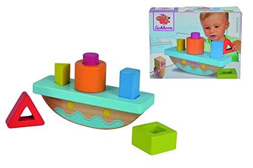 Eichhorn 100002086 - Steckspiel, Kleinkind, Holzspielzeug, Motorikspielzeug, ab 1 Jahr, 6 x 19 x 12 cm, 7 teilig