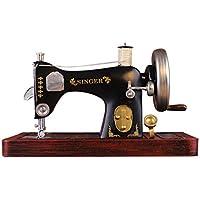 ZDQ Adornos Máquina de coser Vintage Modelo Decoración para el hogar Accesorios de fotografía Escaparate Pantalla