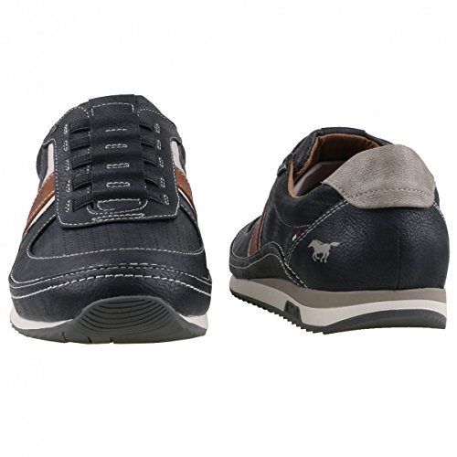 Mustang Herren 4125-402-820 Slip On Sneaker Blau (Navy)