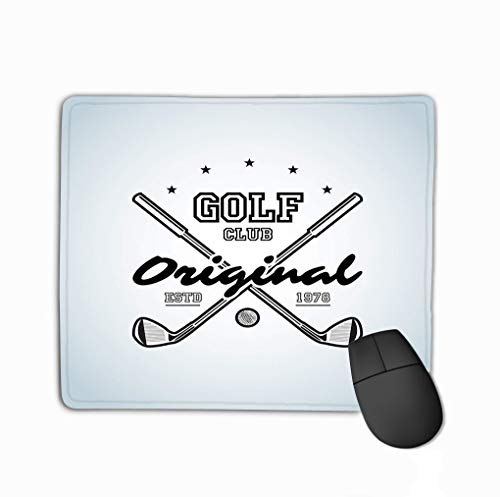 Rectangle Non-Slip Rubber Mousepad 11.81 X 9.84 Inch Golf clubsgolf Club Logo Golf tournaments organizations Country Clubs Illustraton Format Nature -